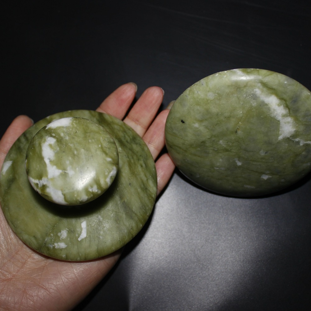 himabm high quality natural green jade mushroom massage stone for health body reiking healing item relax tool acupunture point Natural large green stone  mushroom massage stone for health body reiking healing item relax tool acupunture point