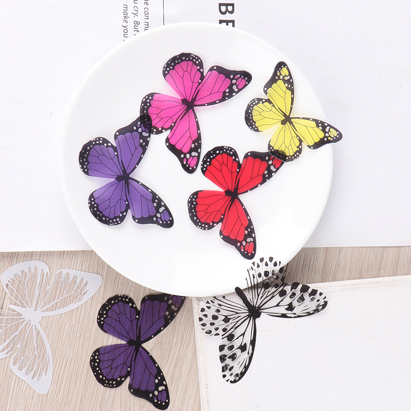 3D New Cute Butterfly Sticker Art Design Vivid Decals Wall Stickers Home Decor Room(China)
