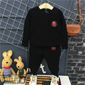 cotton black kids clothes boys clothing set 2017 spring long sleeve tops + pants 2pcs boy clothes sets children sport suits