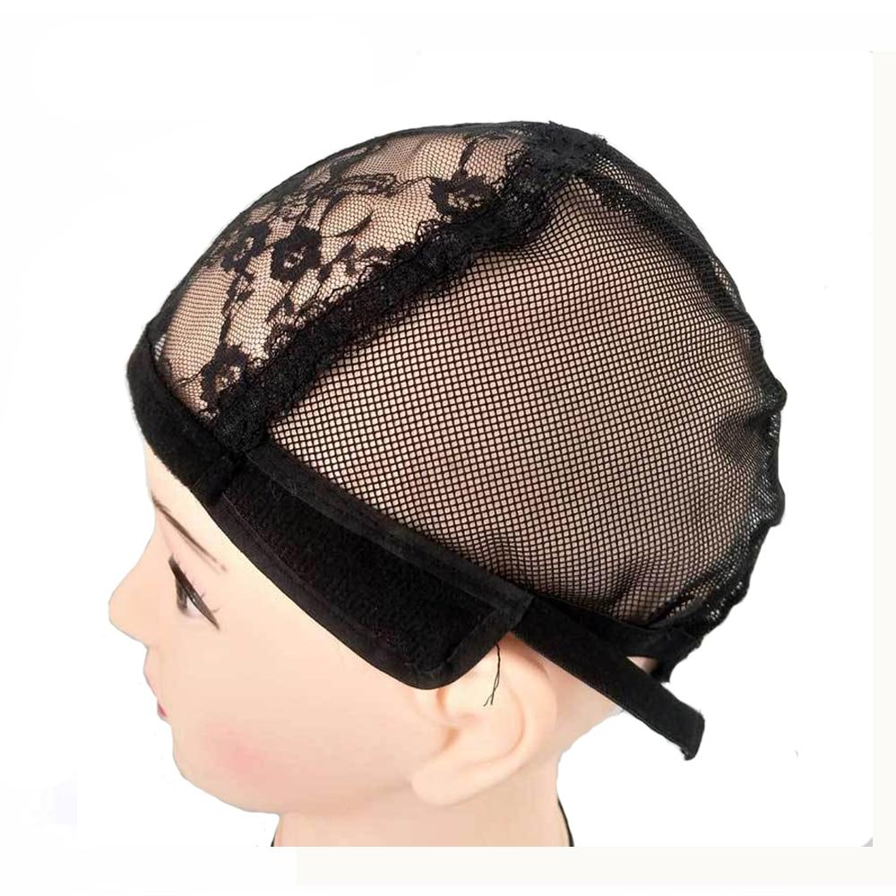 Weaving Wig Cap Rose Lace Mesh Base Machine Made Stretchy Net Medium Black 10pcs