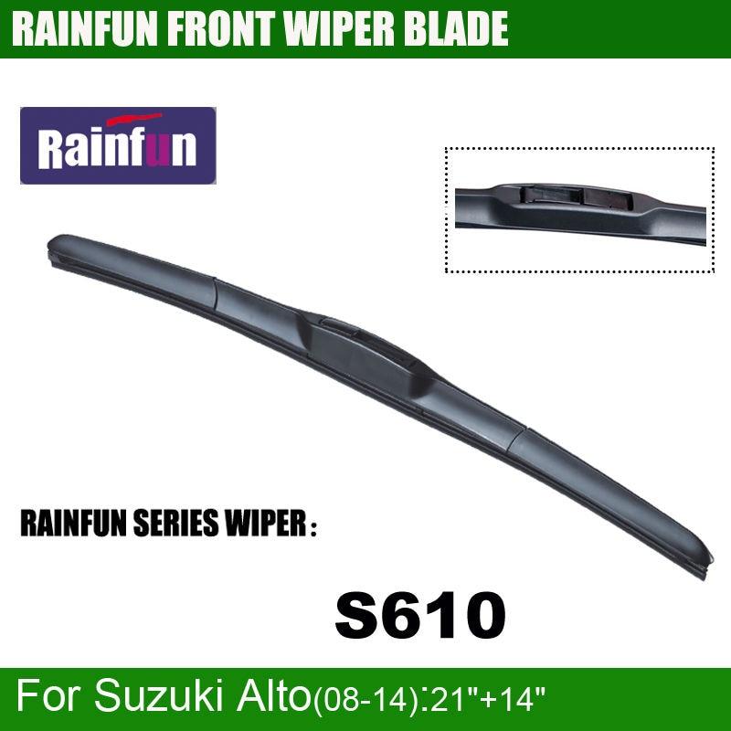 RAINFUN специальный автомобиль стеклоочистителя для SUZUKI ALTO(08-14), 21+ 14 дюймов Автомобильный Стеклоочиститель Авто мягкий стеклоочиститель, 2 шт. в партии