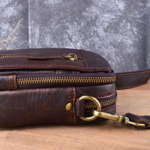 Image 5 - AETOO sac à bandoulière en cuir véritable pour hommes, petit sac à bandoulière sac Casual