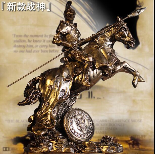 Modèle d'armure de samouraï médiéval rétro Rome armure guerriers artisanat créatif ornements chevalier cheval bar statue décoration rétro