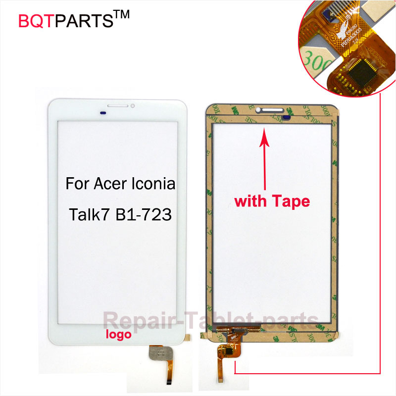 BQT For Acer Iconia Talk 7 B1-7 Touch Screen For Acer Iconia Talk 7 B1-723 glass sensor panel digitizer TouchScreen 100% Tested