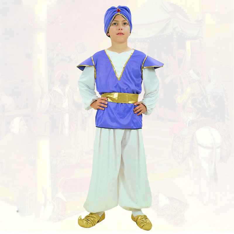 Aladdin Costume Children Prince Halloween Cosplay Boy Arabian Fancy dress