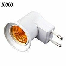 E27 Профессиональный Супер лампочка светильник настенная розетка E27 Цоколь лампа США/ЕС розетка с выключателем питания