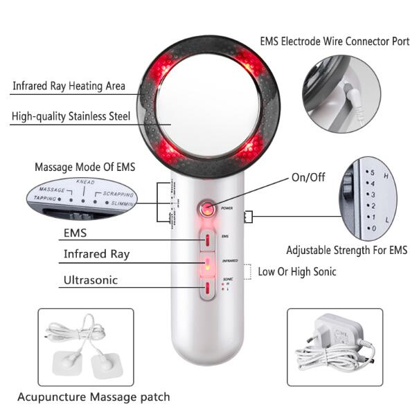 Ultrasound Cavitation EMS Body Slimming Massager Weight Loss Lipo Massager Anti Cellulite Fat Burner Infrared Ultrasonic Therapy-in Face Skin Care Tools from Beauty & Health