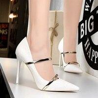Bigtree High Heels Women Dress Shoes Fashion White Wedding Shoes Rhinestone Heels Bridal Shoes Champagne/Gold/Black/Silver Heels
