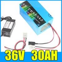 1000 Вт 36 В Электрический велосипед Батарея 36 В 30AH литиевых Батарея 36 вольт 30AH Ebike Батарея с 30A BMS 42 В 3A зарядное устройство