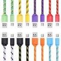 1 m 3 m 2 m tipo c para usb de nylon trenzado usb 3.1 tipo c transferencia de datos de sincronización cable de carga cable de línea para huawei p9 oneplus 3 Umi
