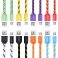 1M 3m 2m Type C to USB Nylon Braided USB 3.1 Type-C Transfer Data Sync Cable Charging Cord Line for Huawei P9 OnePlus 3 Umi