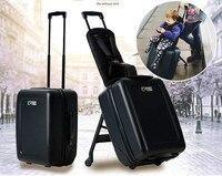 Ребенка ручной клади верховой езды тележка чемодан путешествия. дети Многофункциональный ручной roll багажа. smart багги. бизнес торгового мешо