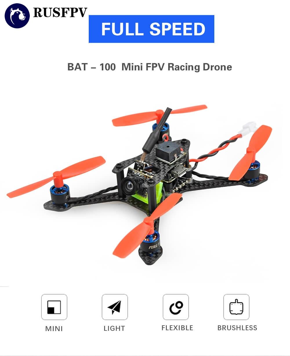 FSD Bat-100 100mm F3 6A BLHELI_S Dshot600 25MW 48CH 600TVL VTX 1s 550mah 50C HV Mini FPV Racing Drone PNPFSD Bat-100 100mm F3 6A BLHELI_S Dshot600 25MW 48CH 600TVL VTX 1s 550mah 50C HV Mini FPV Racing Drone PNP