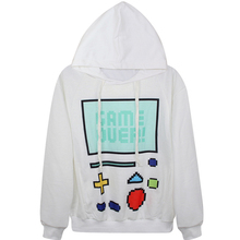 Harajuku 3D Print Game Console PlayStation Games Sweatshirts Fashion Long sleeve with hat men Women Hoodies Cartoon Hoody Hooded