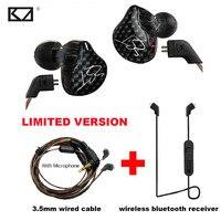 Original KZ Limited Version Sport Wireless Bluetooth Earphones Phone HiFi 3 5mm Wired Earphone With Mic