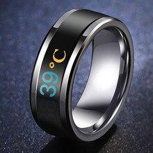 Температурное кольцо из титана стали настроения чувства эмоции интеллектуальные температурные чувствительные кольца для мужчин и женщин водонепроницаемые украшения