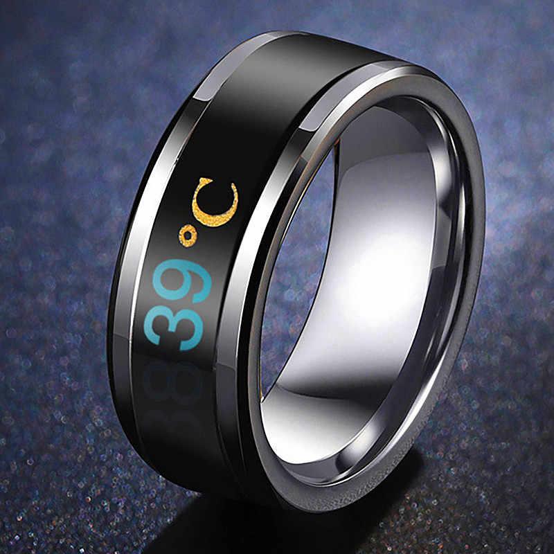 Температурное кольцо из титана стали настроения чувства эмоции интеллектуальные температурные чувствительные кольца для мужчин и женщин ...
