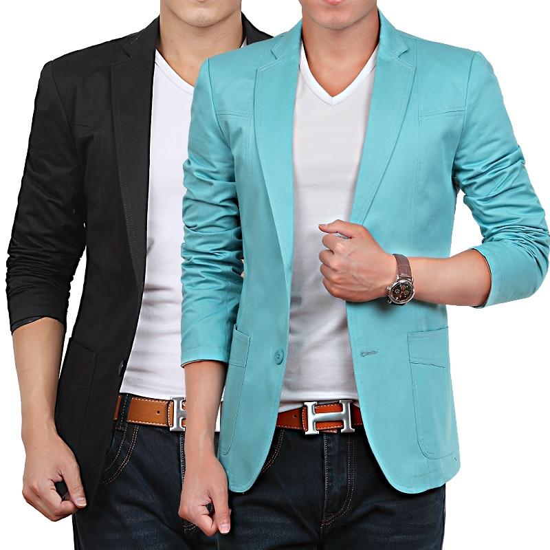 Beige Blue Red Black Khaki Cheap Men Suit Mens Casual Blazers Korean Jacket Slim Fit