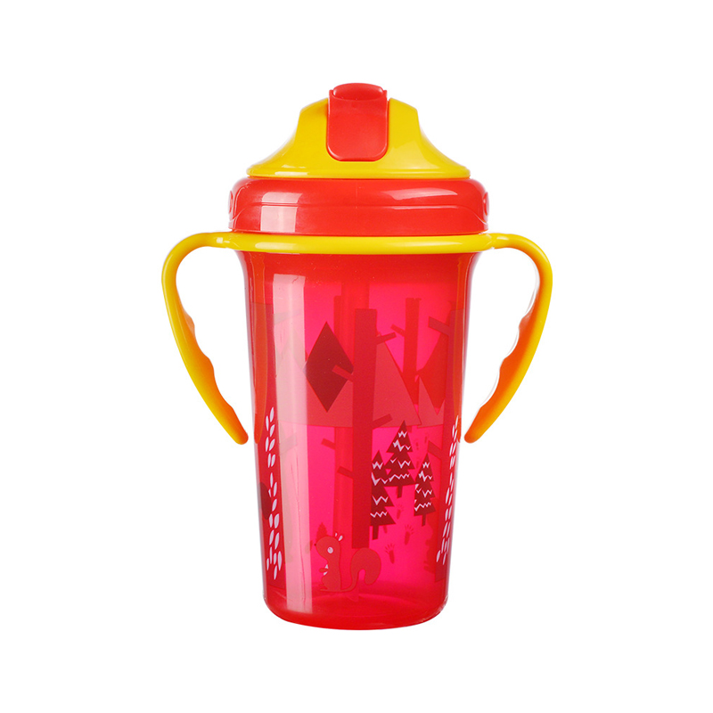 BPA Free New Baby Training Cup Infant Leak-Proof Cute Drinker Toddler Anti-fall Handle Bottles Kid Healthy Drink Kettle MY0052 (9)