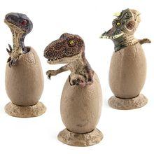 3 шт./компл. динозавр ручной работы модель половина вылупившиеся яйцо динозавра модель с пьедестал забавные новые игрушки для мальчиков и девочек игрушки подарки