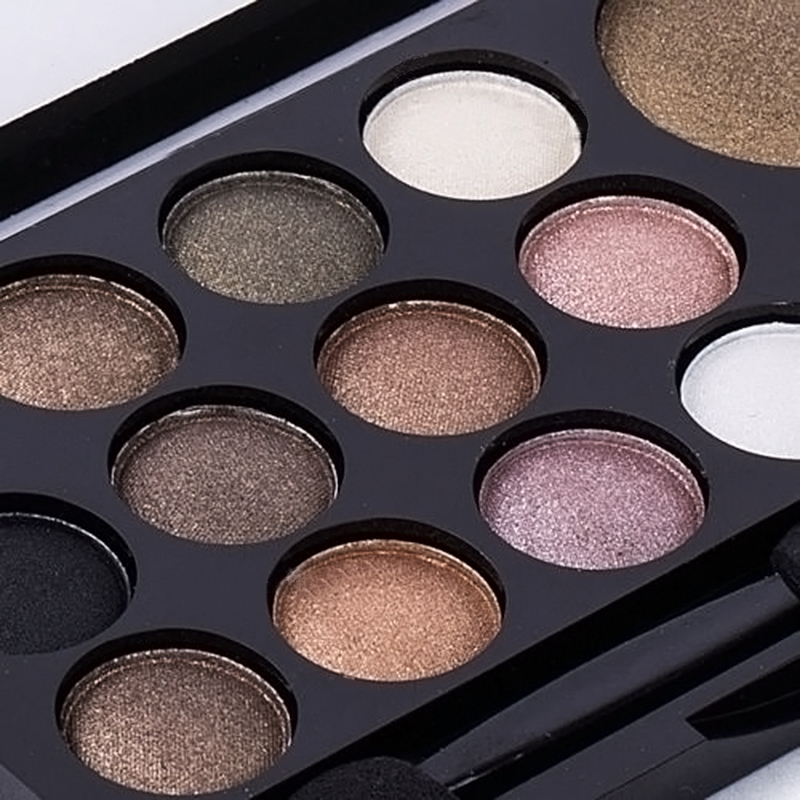 14 colors professional makeup makeup glitter shimmer eyeshadow palette neutral nude warm eyeshadow m01096 in eye shadow from beauty health on