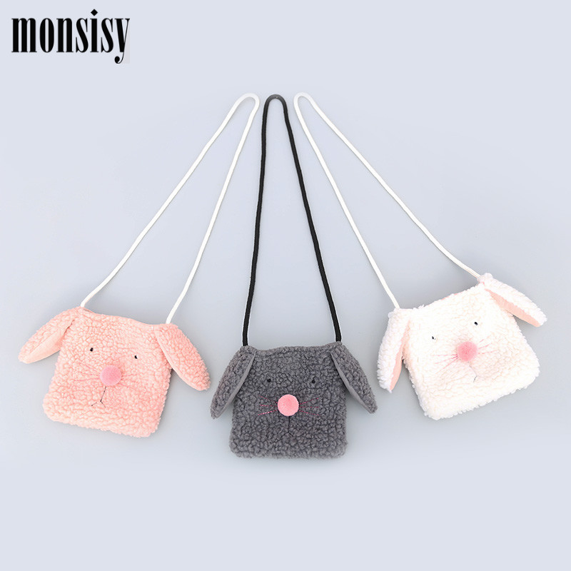4c83d7718d4 Detail Feedback Questions about Monsisy Winter Chilren Purse and Handbag  For Girl Wool Bag Cartoon 3D Animal Dog Kid Shoulder Bag Boy Bady Toddler  Dog Bag ...