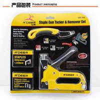 Nail gun manual Staple Gun strong three use nail puller herramientas ferramentas multitool durable Hand Tool