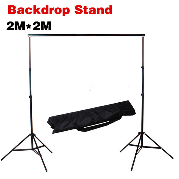 Photography 2m*2m Backdrop Stand Background Support System with Carrying Bag kit dhl free 10ft x 6 5ft background holder 3m x 2m adjustable muslin background backdrop support system stand kit carrying bag