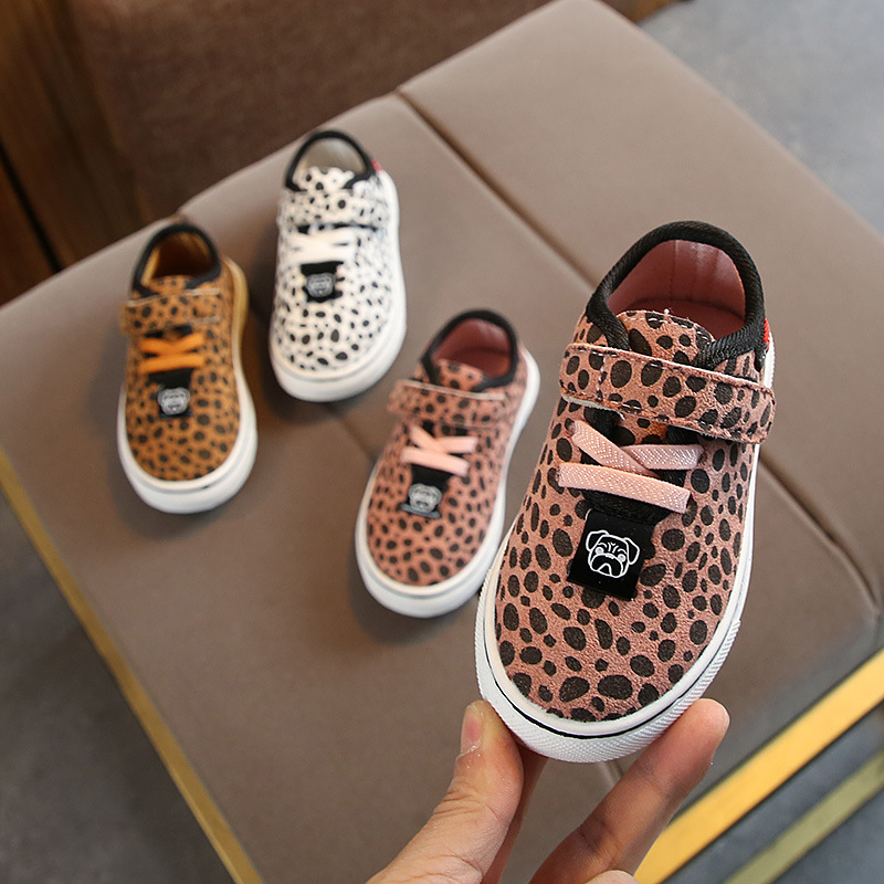 Kids Sport Shoes Chaussure Enfant Girls Boys Casual Shoes Autumn Spring Leopard Korean Breathable Flat Toddler Sneakers Children