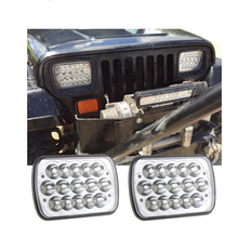 ECAHAYAKU 2 pcs 7 inch Square 45W LED Work Light Bar Headlight Lamp High/Low Beam driving light For car Truck Offroad atv suv new 9d led offroad light hi low beam 57w crystal led headlight for jeep led work light 4x6 inch square headlamp 4x6 work light