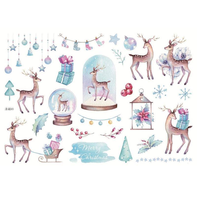 Рождественский ужин гирлянда веселое Рождество, клейкие наклейки для скрапбукинга для художественного оформления ногтей, ручная работа на...