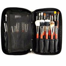 2016 New Arrival Fashion Black Nylon Cosmetic Tool Makeup Brush Bag Case Brushes Holder Pouch Kit Bag 27x16x4cm