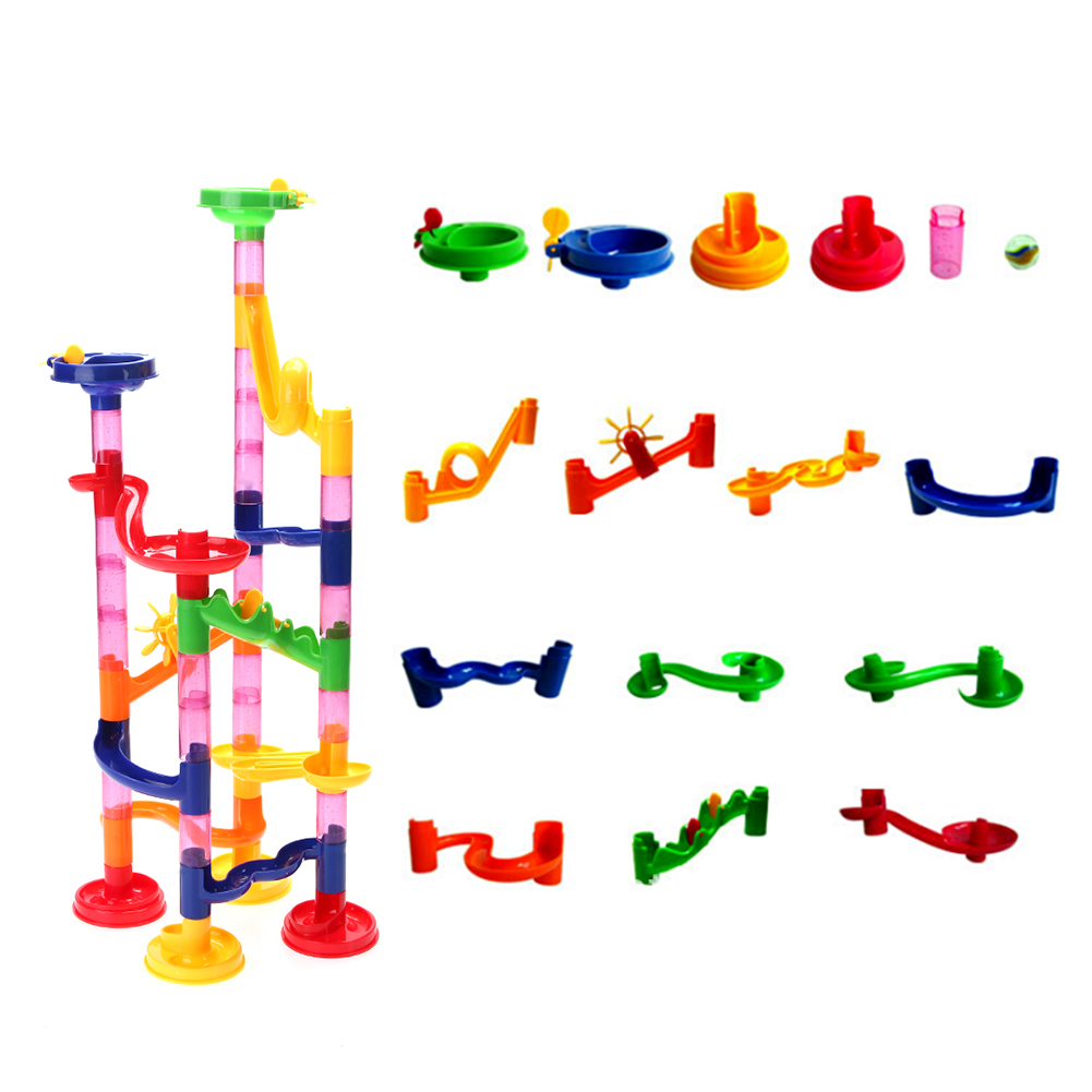 50pcs Plastic Building Blocks Toys for Kids Children Race Track Bead Maze Toy Water Pipe Blocks Educational Toys Brinquedos tri fidget hand spinner triangle metal finger focus toy adhd autism kids adult toys finger spinner toys gags