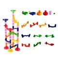 50 шт. Пластиковые Строительные Блоки для Детей Гоночной Трассе Бисера Лабиринт Игрушка Водопровод Блоки