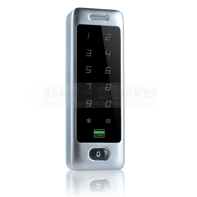 DIYSECUR 125KHz Rfid Card Reader Door Access Controller System Touch Panel Password Keypad C40
