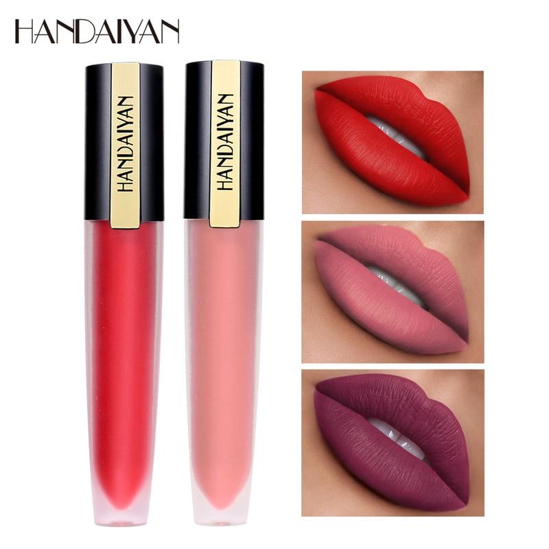 1PC Nude Waterproof Lipstick Matte Pumpkin Color Lipstick Vitamin E Moisturizing Water-Resistant Profissional Lips Stick TSLM1