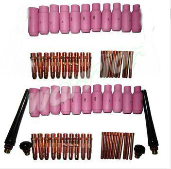 62PCS TIG Torch Consumables Accessories KIT Fit TIG Welding Torch PTA DB SR WP 17 18 26, M327  цены