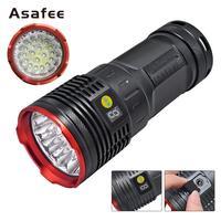 GP2 8000Lums LED Lanterna 18*T6 LED Flashlight Torch 3 Modes USB Charging Linterna Lamp Portable Searchlight Power Bank Light