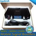 GSM 900 mhz LTE 1800 Mhz UMTS 2100 Mhz Banda Tri Reforço De Sinal Móvel 2G 3G 4G Repetidor de sinal Amplificador de Celular Com LCD/ALC/MGC