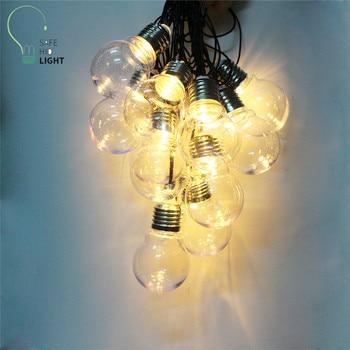 NEW 6M 20 LED G45 Globe Patio String Light festoon Party Fairy Lights Outdoor string light 110V/220V US/EU plug D25