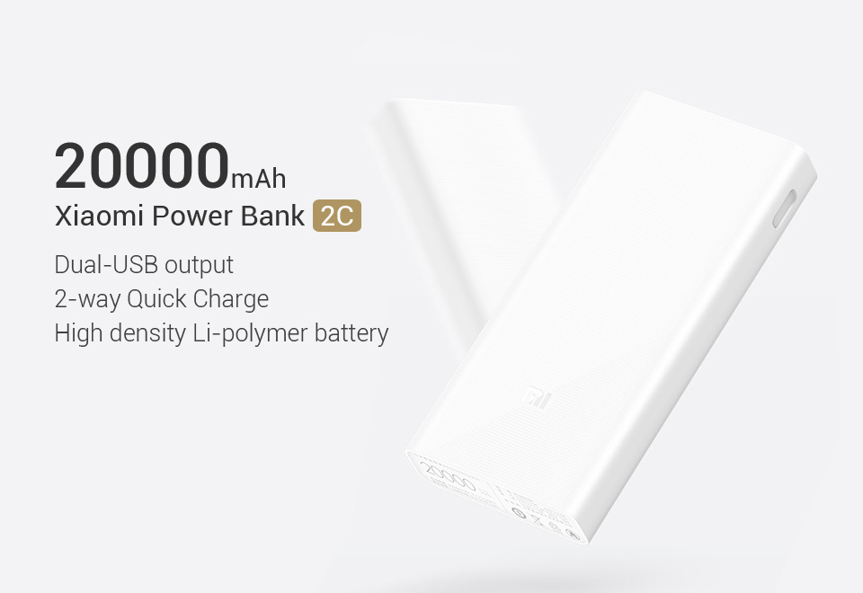 Xiaomi Mi 20000mAh Power Bank 2C