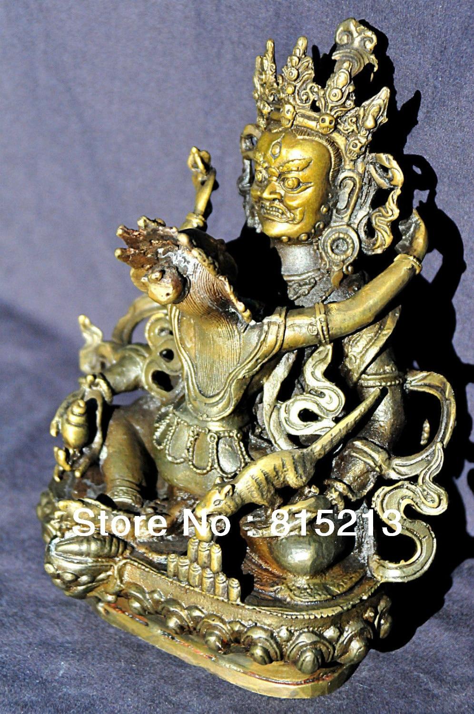 bi00617 VINTAGE TIBETAN BRONZE STATUE of HAPPY BUDDHA OF FORTUNE