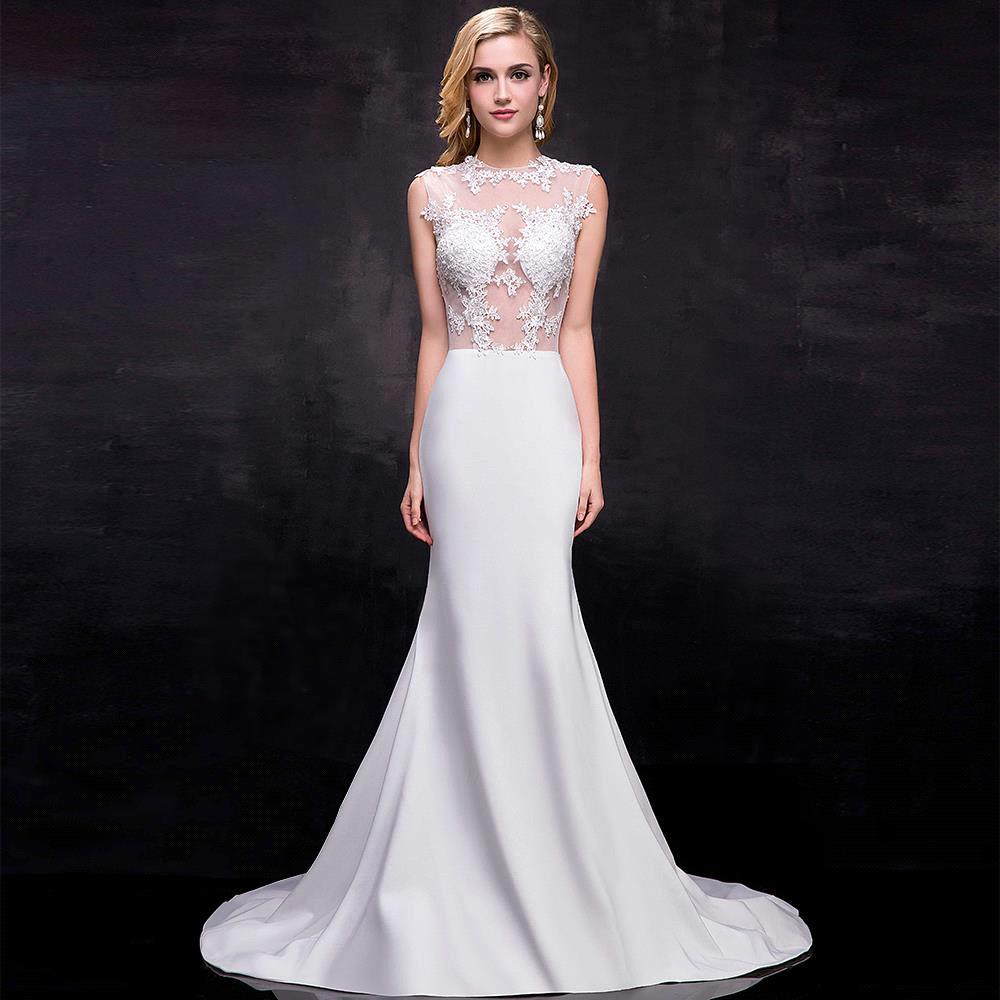 Popular Long White Lace Mermaid Prom Dresses-Buy Cheap Long White ...