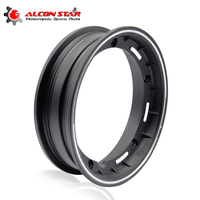 Alconstar Motorcycle rims Case for Piaggio Vespa 10 inch Scooter Aluminum Wheel Rim with Nut,Oring and Inflating Valve