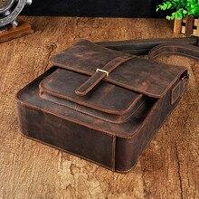 Оригинальная Кожаная модная повседневная сумка Mochila на плечо для планшетов, сумка для книг, Мужская дизайнерская сумка-мессенджер через плечо, сумка-портфель для мужчин 5867