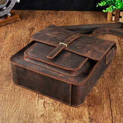 Оригинальная Кожаная модная повседневная сумка Mochila на плечо для планшетов, сумка для книг, Мужская дизайнерская сумка-мессенджер через пле...