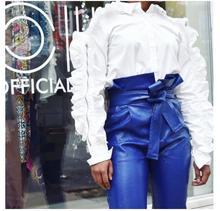 Fashion Off Shoulder Shirt Female Ruffles Sleeve  Zipper Long Blouse Women 2019 Spring Korean Clothes