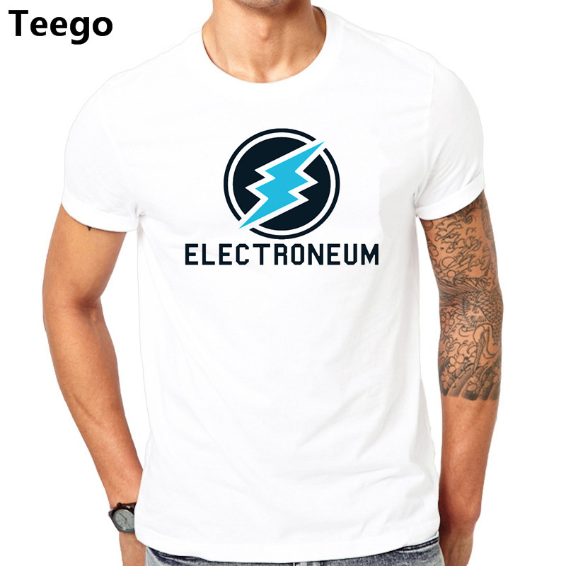 Electroneum Cryptocurrency T Shirt Men Short Sleeve novelty Style 2018 New Funny Tee Shirt Printed camisetas hombre Top
