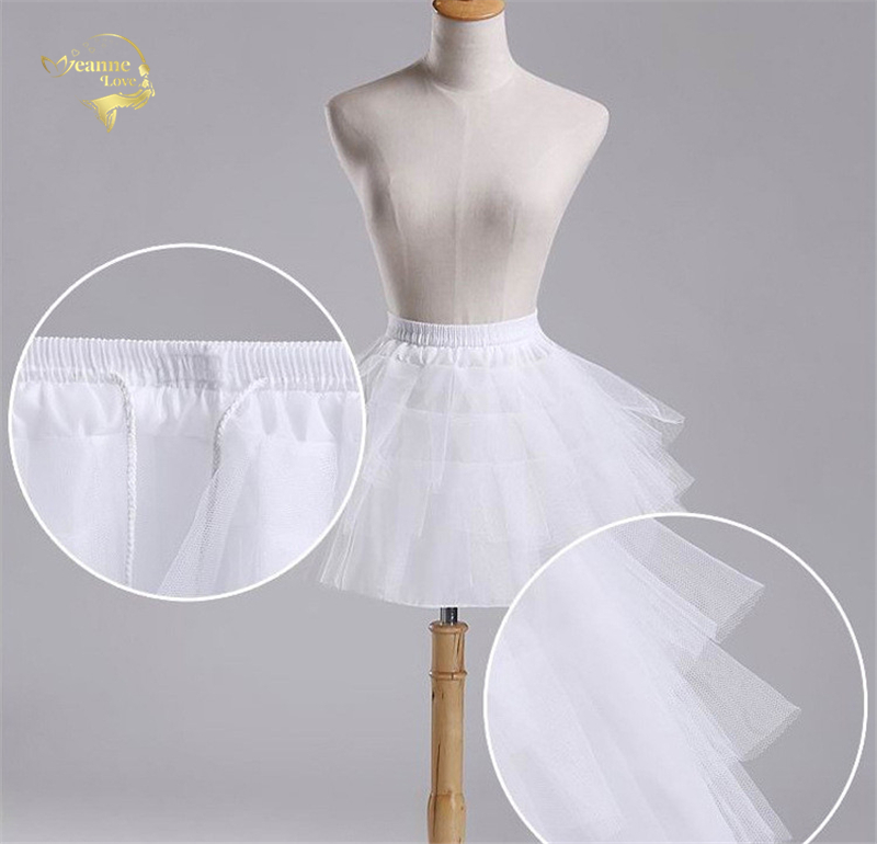 Top Quality Stock White Black Ballet Petticoat Tulle Ruffle Short Crinoline Bridal Petticoats Lady Girls Child Underskirt jupon 2