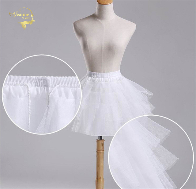 Top Quality Stock White Black Ballet Petticoat Tulle Ruffle Short Crinoline Bridal Petticoats Lady Girls Child Underskirt jupon 2